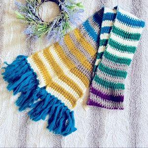 St Johns Bay Chunky Knit Block Scarf